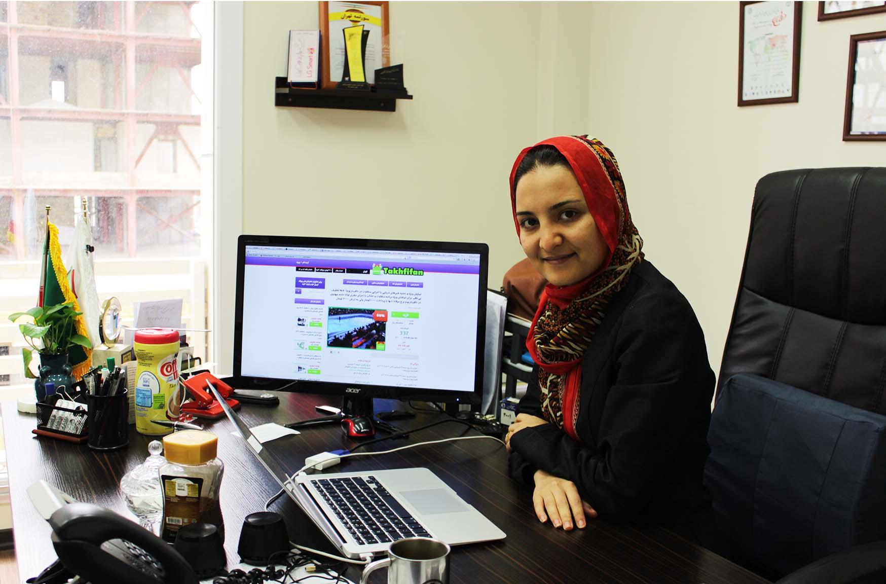 نازنین دانشور از موقترین زنان کارآفرین ایران
